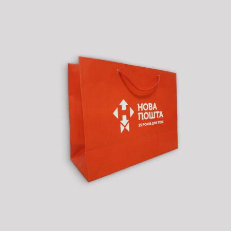 Бумажные пакеты с печатью - 25х12х35