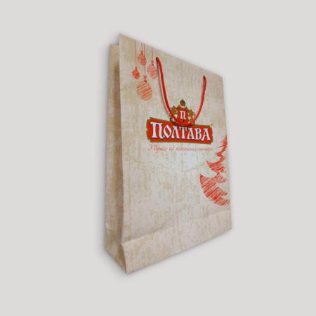 Бумажные пакеты с печатью - 40х10х30