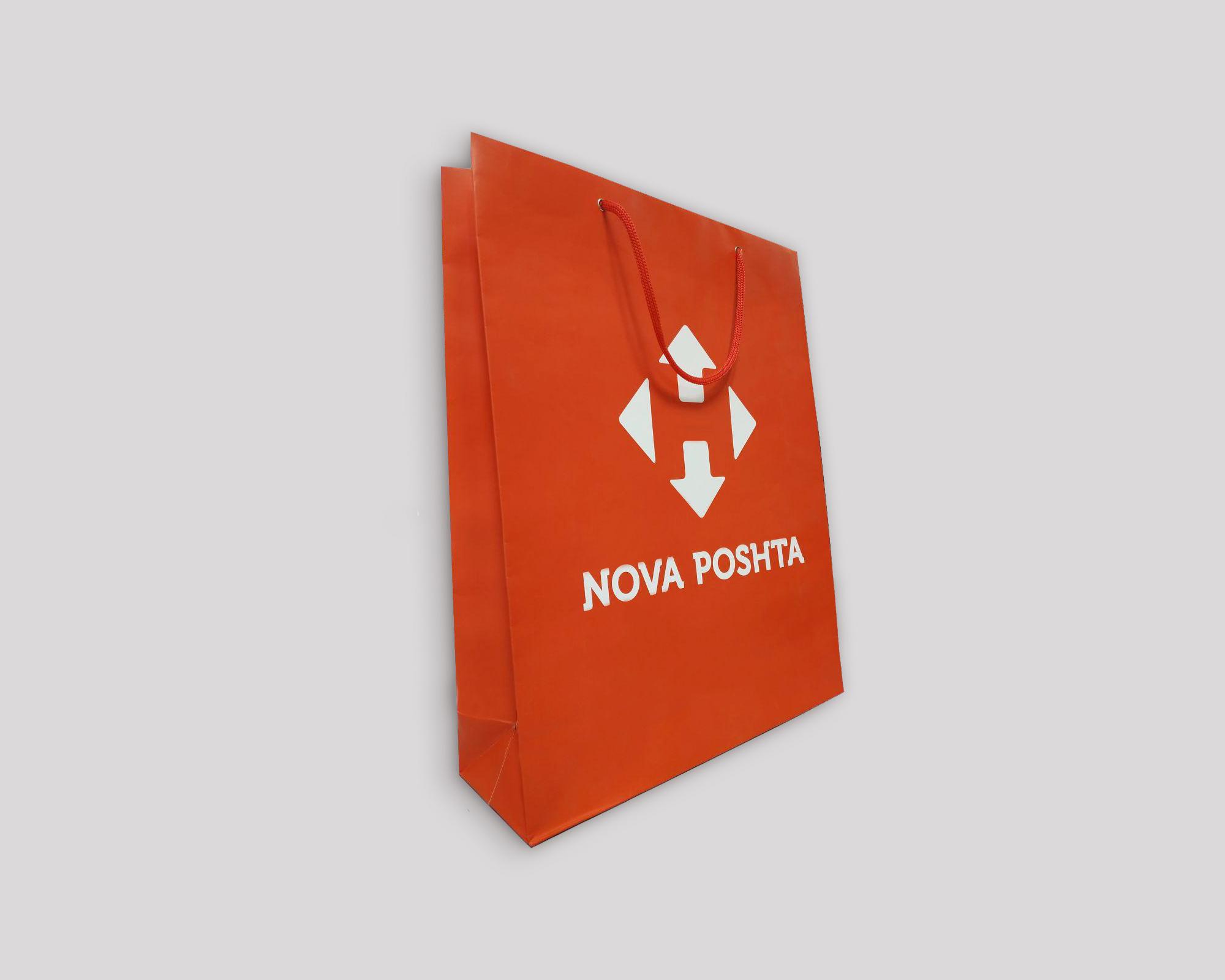 Бумажные пакеты с печатью - 40х10х32