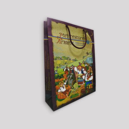 Бумажные пакеты с печатью - 42х10х32